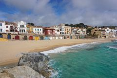 Village Calella de Palafrugell beach Spain Stock Photos