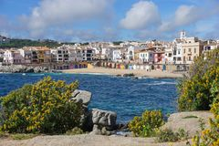 Village Calella de Palafrugell Costa Brava Spain Royalty Free Stock Image