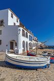 Village Calella de Palafrugell Costa Brava, Spain in wintertime.  Royalty Free Stock Photography