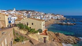 Village Calella de Palafrugell Costa Brava, Spain in wintertime.  Stock Photo