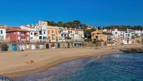 Village Calella de Palafrugell Costa Brava, Spain in wintertime.  Stock Images
