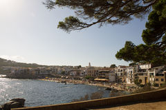 The village of Calella de Palafrugell Royalty Free Stock Image