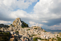 Village of Caltabellotta Stock Image