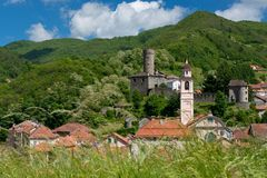 The Village of Campo Ligure Stock Images