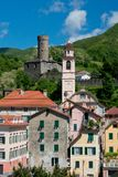 The Village of Campo Ligure Stock Photos