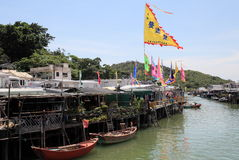 Village and canal of Tai O Royalty Free Stock Image