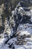 Village of Canillo view from observation deck, in Roc Del Quer. Andorra. Village of Canillo view from observation deck, in Roc Del Quer trekking trail Royalty Free Stock Images