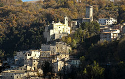 Village of Cantalice near Rieti, central Italy Stock Image