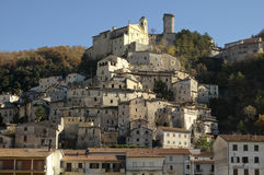 Village of Cantalice, Rieti, central Italy Royalty Free Stock Photography