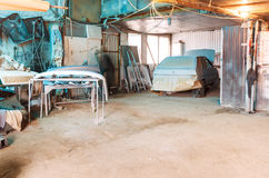 Village car workshop Royalty Free Stock Photos