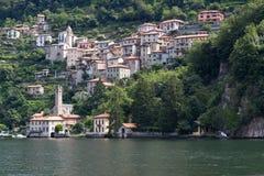 The village of Careno at lake Como, Italy Stock Photos