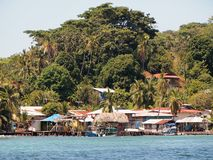 Village on Caribbean island Royalty Free Stock Photos