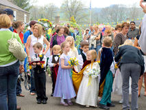 Village Carnival, Ashover, Derbyshire. Stock Images