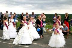 Village Carnival Parade. Royalty Free Stock Image