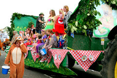 Village Carnival Parade. Royalty Free Stock Images