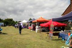 Village Carnival Stalls. Stock Photo