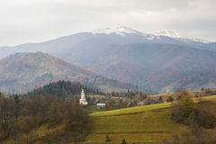 Village in Carpathian mountains Stock Image