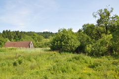 Village in Carpathian mountains Stock Photo