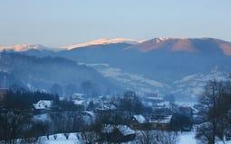 Village in the Carpathian Mountains Royalty Free Stock Photos