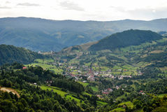 Village in the Carpathian Mountains, Romania Stock Image
