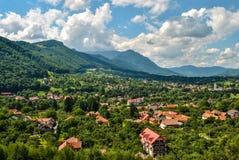 Village in the Carpathian Mountains, Romania Stock Photo