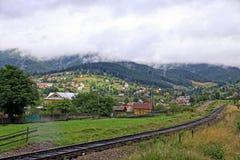 Village in Carpathian mountains, Ukraine Stock Photos