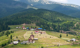 Village in the Carpathians Stock Photography