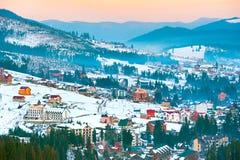 Village in Carpathians mountains, Ukraine Stock Image