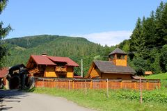 Village in Carpathians Royalty Free Stock Images