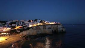 The village Carvoeiro in the Algarve Portugal stock video
