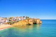 The village Carvoeiro in Portugal Stock Image