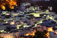 Village Casares at night. Spain Stock Images