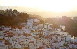 Village Casares at sunset, Spain Stock Photography