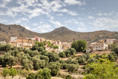 Village of Cassano in the Balagne region of Corsica Stock Photography