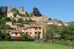 Village and castle of Chatillon Stock Photography