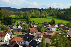 Village and castle Rosenberg in South Bohemia Stock Photos