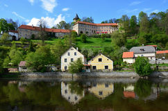 Village and castle Rosenberg in South Bohemia Stock Photo