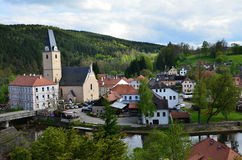 Village and castle Rosenberg in South Bohemia Royalty Free Stock Photo