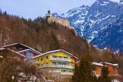 Village and castle Werfen near Salzburg Austria Royalty Free Stock Images