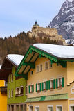 Village and castle Werfen near Salzburg Austria Royalty Free Stock Photos