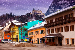 Village and castle Werfen near Salzburg Austria Stock Images