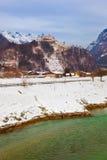 Village and castle Werfen near Salzburg Austria Stock Photography