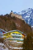 Village and castle Werfen near Salzburg Austria Royalty Free Stock Photo
