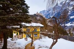 Village and castle Werfen near Salzburg Austria Stock Images