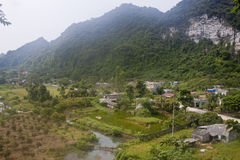 Village in Cat Ba National Park Royalty Free Stock Photography