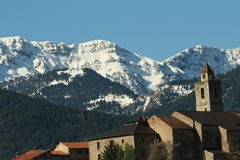 Village in Catalonia,Pyrenees. Village in Sierra del Cadi,Catalonia,Cerdanya,Pyrenees,Spain Royalty Free Stock Images