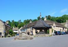 Village centre, Castle Combe. Royalty Free Stock Photos