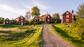 Village centre at the island Harstena in Sweden Stock Image