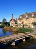 Village centre, Lower Slaughter, England. Royalty Free Stock Photos