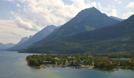 Village Centre at Waterton National Park Stock Image